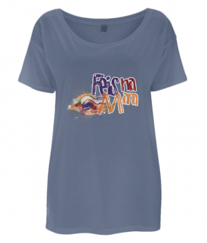 Women's Tencel Blend Oversized T-Shirt (design one side) logo